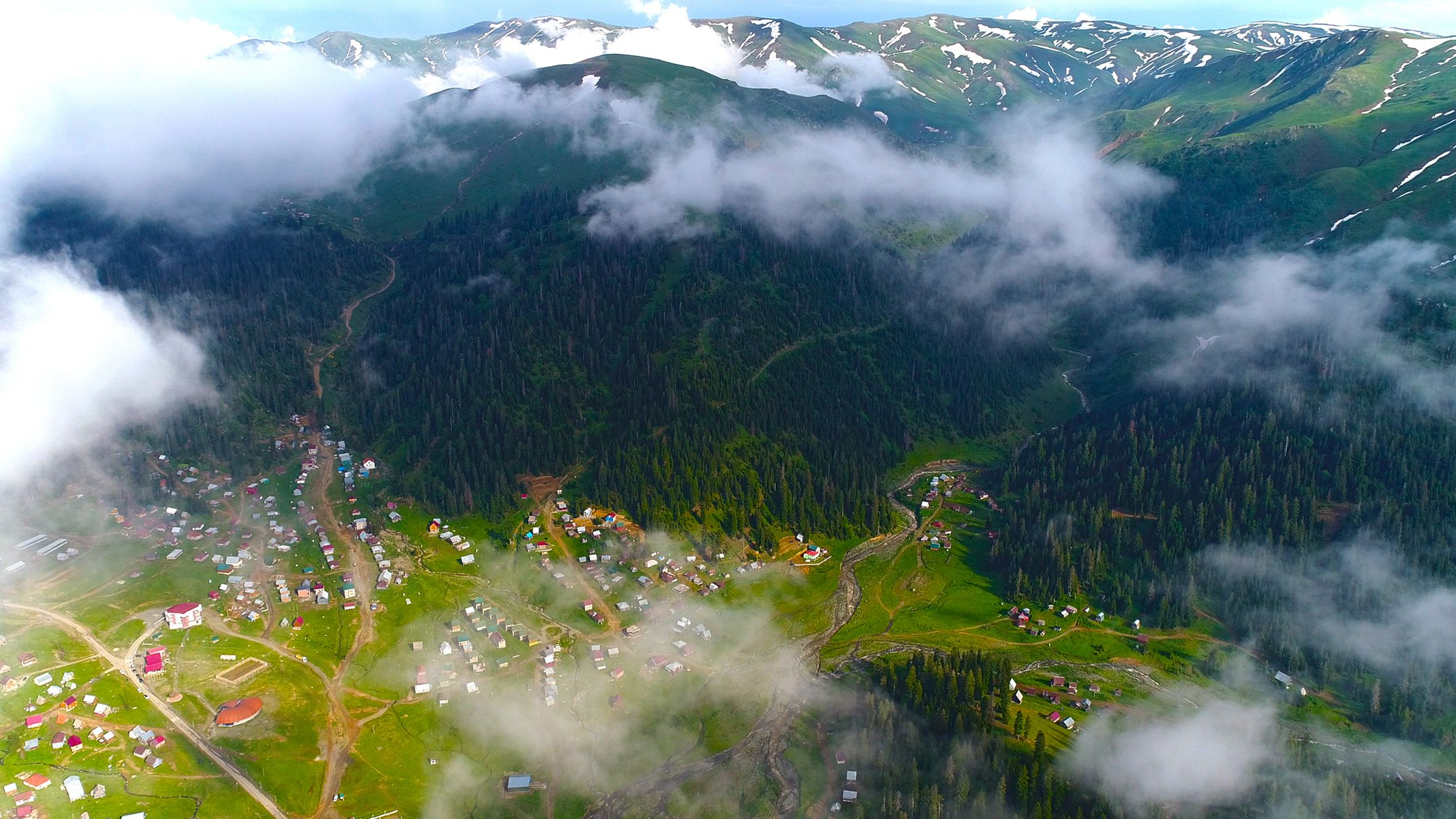 bakhmaro aerial photo